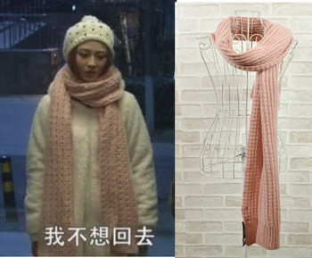 'The same as super stars' Fashion pink  winter women's big scarf /free shipping