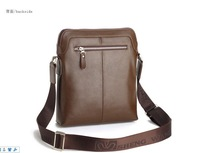 2012 Free International fashion men's business casual shoulder bag leather man bag