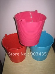 Garden Indoor/Outdoor Colored Tin Plant Pot Planter Pail(China (Mainland))