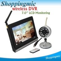 "7"" LCD Baby Monitor Best Selling 2.4GHz Wireless Voice Control Monitor With Night Vision Free Shipping!!!"