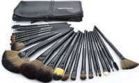 Makeup Brush Brusher 24Pcs 3colores High Quanlity Professional Cosmetic Set Kit With Leather Pouch