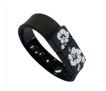 Black Wreath Bracelet Model USB 2.0 Flash Memory Stick Pen Drive 2GB 4GB 8GB 16GB 32GB LU059(China (Mainland))