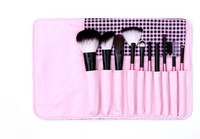 10 PCS Black Goat Hair Nylon Wooden Makeup Brush/Brushes Set Make Up Brush,Free Shipping