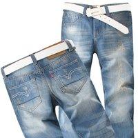 Розничная торговля и! Классический Дизайн slim джинсы брюки мужские w27-36