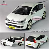 1:32 citreon c4 white alloy car model plain free air mail