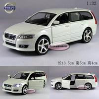 White 1:32 VOLVO  v50 2009 alloy car model plain free air mail
