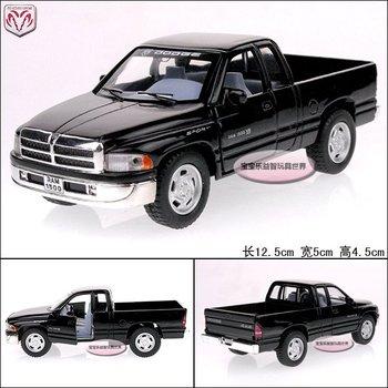 1:44 dodge pickup ram 1500 trunk black alloy car models free air mail
