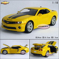 New Yellow 1:18 Chevrolet Bumblebee camaro roadster sports car exquisite gift box alloy car model free air mail