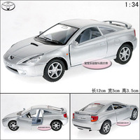 1:34 TOYOTA celica silver alloy car model free air mail