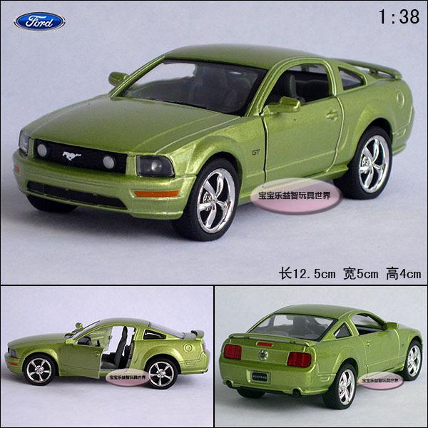 1:38 FORD gt mustang green alloy car models free air mail(China (Mainland))