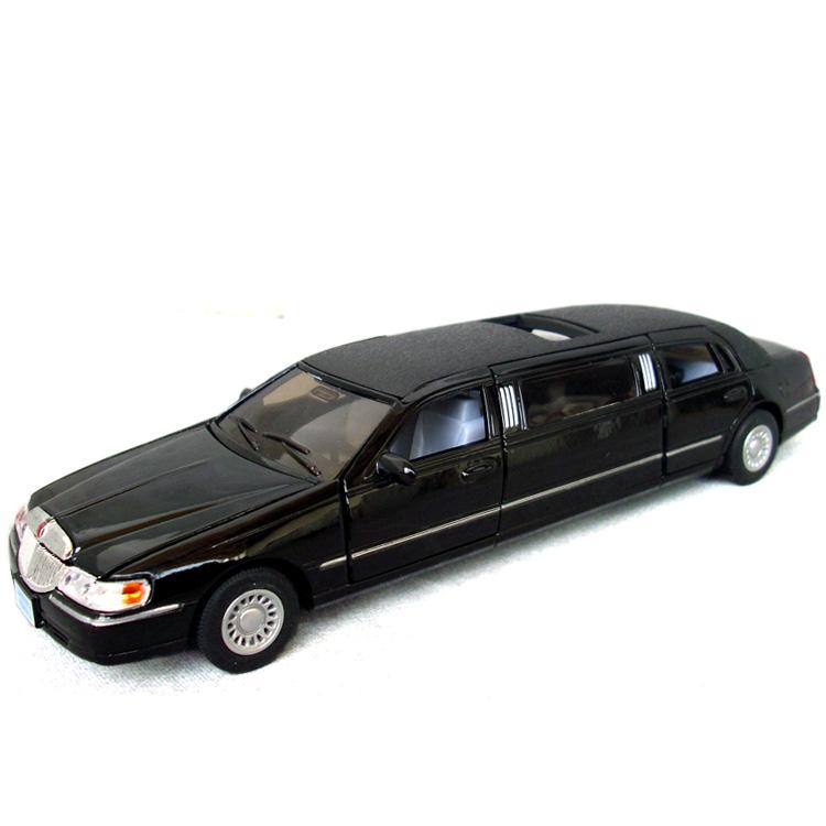 Kinsmart alloy toy car lengthen lincoln alloy car models child car
