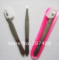Professional Double Eyelid sticker stainless clipper eyebrow tweezers make up Tape eyelashes clip beauty multi whcn+