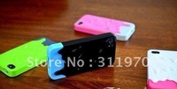 For iPhone 4S Case Melt Series For iPhone Case eye-catching Cover For iPhone 4G Enhanced Grip Sensation25pcs/lot