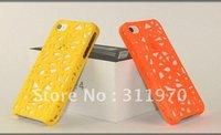 Bird's Nest Hybrid Mesh Net Plastic Case for iPhone 4 4S 50pcs/lot