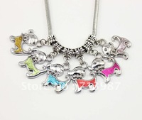 100pcs mix wholesale lots Fashion Euopean DIY  Charm Big hole dog pendant dangle beads fit Euopean bracelet  MB025