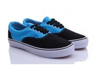comfortable,.classical men's/woemen's canvas shoes sneaker size us 4-10,35-45,colro black-blue