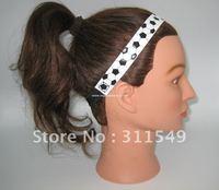 free shipping black/white leather soccer headbands,football headbands, 300 pcs/lot