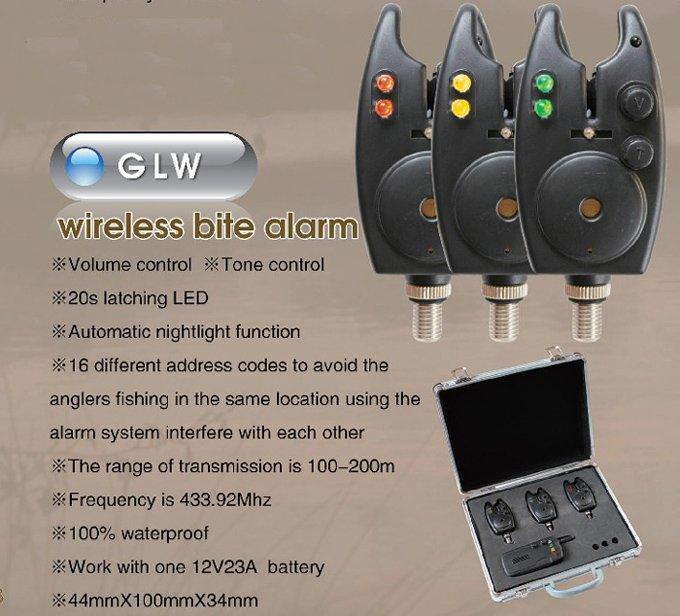 (Wholesale) Carp fishing tackle fish bite indicator wireless bite alarm GLW(China (Mainland))