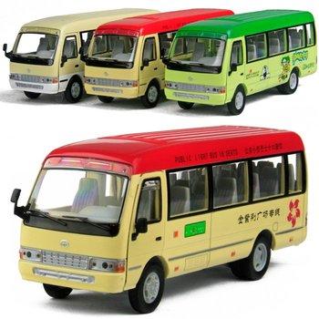 Bus bus alloy WARRIOR alloy car models Large bus TOYOTA coaster bus