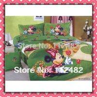 Minnie Mouse Cartoon Cotton children 4pcs Bedding Set Kid Bedding Free Shipping