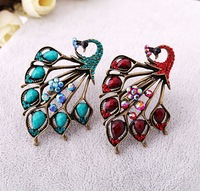Wholesale Jewelry Unique classic vintage peacock Rings Fashion Elegant antique Lovely Ring SIZE 7 SJJ050 Free Shipping