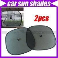 2pcs//lot Black Side Car Sun Shade Rear Window Sunshade Cover Mesh Visor Shield Screen #3531