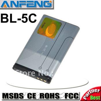Genuine 1100mAh BL-5C battery for Nokia 6670 6680 6681 6682 6862 6822 7600 7610 E50 E60 N70 N71 mobile