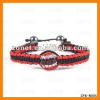 Free Shipping fashion Trinidad flag woven shamballa bracelet SFB-N005