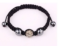 uk/us colour is ---gray 10MM Black SHAMBALLA HANDMADE BRACELET  4563321