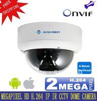 "AM-C756V H.264 WDR IR Fixed Dome Onvif  IP Camera CCTV Cam 4-9mm 2.0 Megapixel Varifocal Lens 1/3""CMOS Indoor Free Shipping"