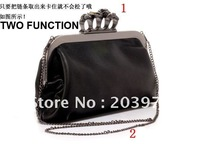 Retail+Free Shipping cool Europe punk style ghost head gems ring evening bags