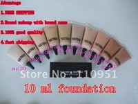 Free shipping High quality brand cosmetics*50PCS /LOT Hot Sell !!! MATCHMASTR SPF 15 Foundation Liquid 10ml 10 different colors