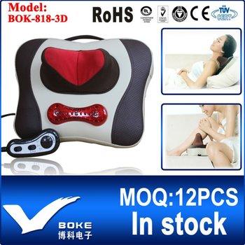 [BOKE Brand] Multi-function Neck Massage Pillow Multi-purpose Massage Pillow Infrared Kneading Massager BOK-818-3D