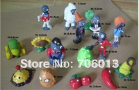 Free Shipping 16pcs Plants vs Zombies PVC TOYS PVZ Collection Action Figures