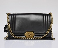 Top quality original brand real calf leather black ambre tote fashion handbag shoulder bag gold hardware free shipping wholesale