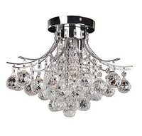 Free shipping Chrome Finish Crystal Chandelier with 3 lights