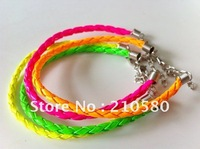Fluorescent  Wrist Wear Bracelet Bangle Punk Hip Hop Jewelry Fashion Artificial Leather Bracelets Neon