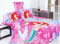 mermaid children's bedding set girls boys duvet cover set 3PC set pillow case flat sheet quilt cover for single bed