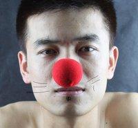 wholesale fashion funny/Wacky toys Sponge clown nose 5pcs/lot Free shipping.