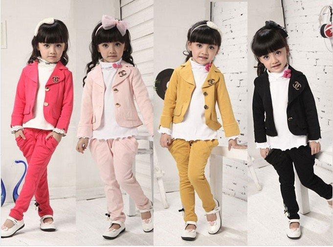 baby girls beautiful blazers suit clothes coat+pants 2piece set autumn clothes 5pcs/lot fre ... accept paypal