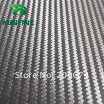 Fedex Free shippng ! Air Free Bubbles1.52*30M/Roll black color 3D Carbon Fiber Vinyl Car Sticker,car wrap film thickness:0.14mm