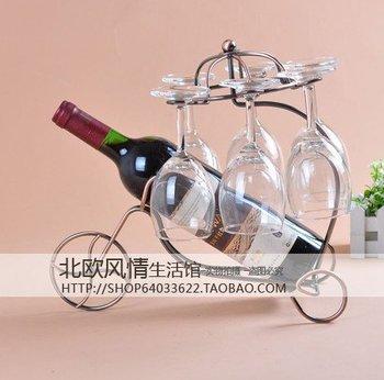 free shipping The wine rack Creative holder  wine glass rack gold op072