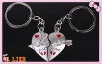 free shipment Lovers keychain an arrow wear heart - love you  keychain for love