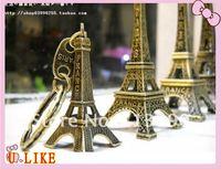 free shippment The Eiffel Tower key chain  5 cm keychain zinc alloy key chain