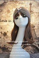 Free Shipping Modal Cotton Elastic Stretch Hair Headwarp / Bandanas/Head Turban with Rhinestone Accessories