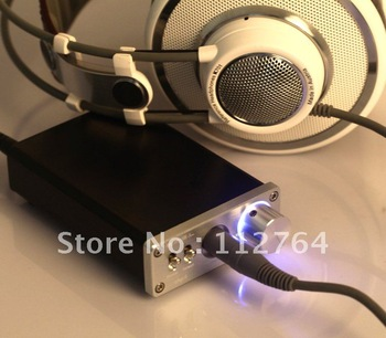 2012 SMSL sApII TPA6120A2 Big Power High Fidelity Stereo Headphone Amplifier  Dual Input + SMSL Power Supply - Sliver