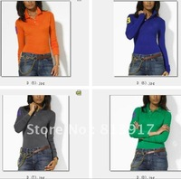Wholesale and retail!Women's polo cotton shirt.100% cotton.
