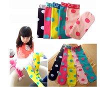 Meias Infantil Meias Meia 2014 New Girl Korea Long Socks Kids Cute Polka Dots Stocks Fashion Princess Kneesocks 20 Pairs/lot