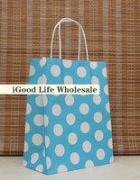 mixed lot 10pcs/lot  21*12*27cm valentine treat bags shopping bag colored paper bag paper shopping bag
