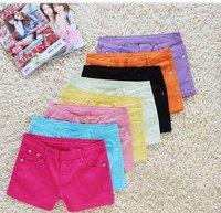 Wholesale - Best Selling Women's Colorful Candy Pencil short Pant/Hot Pant ,ladies' short